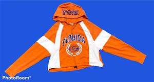 Woman's VICTORIA'S SECRET PINK Orange Blue UF Gators Hoodie Long Sleeve Size M