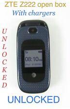 ZTE Z222 - Dark Blue - (AT&T) Flip Phone Unlocked