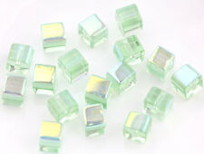50/100Pcs 6mm Square Cube Glass Beads Crystal Loose Spacer Beads DIY Craft