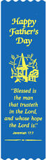 """Blessed Is The Man..."" Father's Day Bible Bookmark Ribbons, pack of 10 (#6-697)"