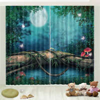 Quiet Night Roots Vines 3D Curtain Blockout Photo Printing Curtains Drape Fabric