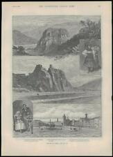 1889 antiguo de impresión de las vistas en Bohemia Checoslovaquia checo leitmertz (268)