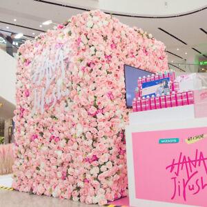 60x40cm Artificial Silk Rose Flower Wall Panels Wedding Backdrops Decoration