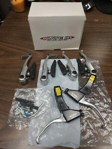 Dia-Compe DP7n bicycle brake levers Vc727 v-brake arms aluminum silver