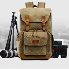 Premium Vintage Photography Backpack Waterproof professional Canvas Cameras Bags