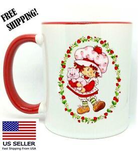 Strawberry Shortcake, Birthday, Christmas Gift, Red Mug 11 oz, Coffee/Tea