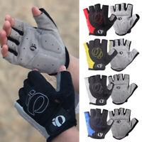 Cycling Gloves Fingerless Windproof Half Finger MTB Road Bike Shockproof Men#