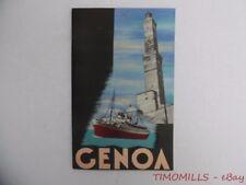1936 GENOA Italy Italian Travel Brochure ENIT Modern Vintage Original VG+