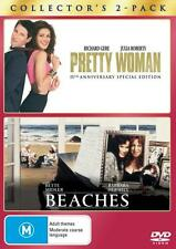 PRETTY WOMAN + BEACHES - NEW & SEALED DOUBLE DVD (BETTE MIDLER, JULIA ROBERTS)