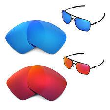 Walleva Polarized Fire Red + Ice Blue Lenses For Oakley Deviation Sunglasses