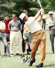 BOB GOALBY PGA GOLF STAR SIGNED 8X10 PHOTO W/COA 1968 MASTERS CHAMP
