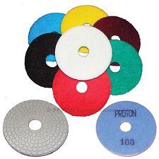 "4"" Dry Wet Polishing Diamond Polishing Pads Granite Marble"