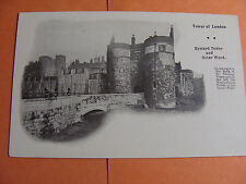 Tower of London Vintage Postcard Byward Tower & Outer Ward unused
