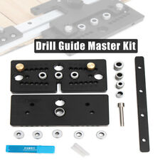 Wood Hole Plus Doweling Jig Joint Drill Guide Master Kit Locator Joinery System