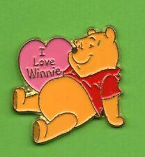 Pin's lapel pin Pins BD DISNEY Winnie l'ourson The  pooh I Love dans cœur rose