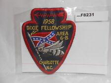 AREA 6-B 1958 DIXIE FELLOWSHIP CHARLOTTE N.C. F8231