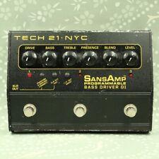 TECH21 SansAmp Programmable Bass Driver DI effect pedal (993050)