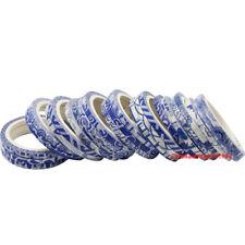 Skinny Super Thin blue and white porcelain Chart Washi tape 青花瓷 3mm x 5M 5pc
