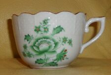 HEREND China NIANG NANKING BOUQUET Green PEONY Antique Porcelain EXPRESSO CUP