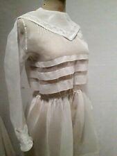 ANCIENNE ROBE DE COMMUNION ORGANDI ANNEES 20 30 T.36 Old communion dress sz XS
