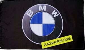 FREE SHIP TO USA NEW BMW LOGO BLACK FLAG BANNER 3X5 FEET serie z8 z4 i8 i3 x6