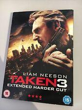 TAKEN 3 DVD 2015 LIAM NEESON EXTENDED HARDER CUT