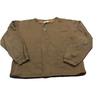 90s VTG UNION BAY HENLEY Sweatshirt Boxy M Metal Buttons Pigment Dyed Oversized