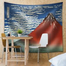 Red Fuji southern wind clear morning-South Wind, Clear Sky-Fabric Tapestry-68x80