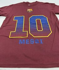 Lionel Messi FC Barcelona Club Team Player T-Shirt, Big Boys Large (14/16)