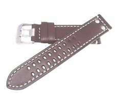 Hadley Roma Brown genuine Italian leather watch band fits Hamilton X Wind 22mm