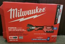 Milwaukee M18 2672 21 18 Volt Lithium Ion Cordless Cable Cutter With Cual Jaws