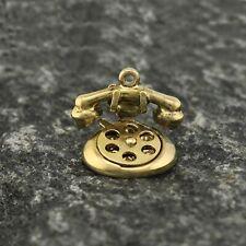 14k Yellow Gold Estate Princess Rotary Old Fashion Phone Charm/Pendant
