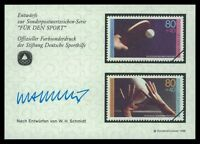 BRD SPORTHILFE 1989 ENTWÜRFE TISCHTENNIS VOLLEYBALL TABLE TENNIS PROOFS by28