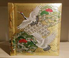 Vint Gold Photo Album Stitch Bird Design Silver Floral Design, Pages Dated 1917