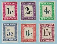 SOUTH AFRICA J46 - J51 POSTAGE DUES  MINT NEVER HINGED OG ** EXTRA FINE! - V647