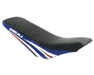Sitzbank blaue weiss passend für Rieju MRX 50 Schaltmoped Motorrad