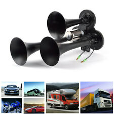12/24V 150db Car Truck Train Boat Horns Loud Triple Trumpet Air Horn Compact Kit