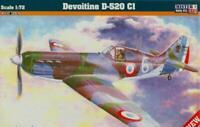 DEWOITINE D-520 (BULGARIAN, FRENCH, ITALIAN & LUFTWAFFE MKGS) 1/72 MISTERCRAFT