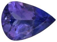 Rare Tanzanite, pear shape natural dark blue-purple color, 7x5mm loose gemstones