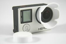 Sonnenblende Lens Hood GoPro Go Pro HERO 3, 3+, 4 Linse Sun Shade weis white