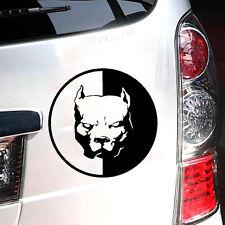 1pc Black Pitbull Super Hero Dog PET Reflective Car Body Window Laptop Stickers