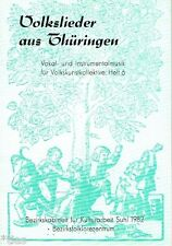 Musik für Volkskunstkollektive Heft 6 Volkslieder aus Thüringen Noten Partituren