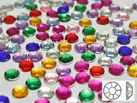"500 Acrylic Round Flatback Rhinestone Gems 6mm(1/4"") Pick Your Color"