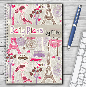 A5 PERSONALISED DAILY PLANNER, JOBS TO DO LIST, JOURNAL, DAILY SCHEDULE, PARIS