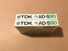 Set Of 2 New Sealed TDK AD-S 90 Cassettes Tapes Type I Made In Japan