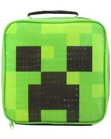 Minecraft Green Creeper Face Kids/Boys Lunch Bag/Food Container