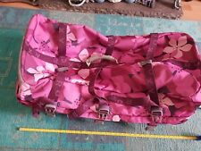 ROXY QUIKSILVER EXTRA LARGE PINK HIBISCUS FLORAL TROLLEY CASE SUITCASE LUGGAGE