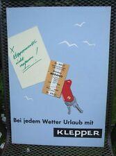Original Plakat Entwurf von Fehling Klepper , Mäntel, Boot, Zelt         ( 32 )