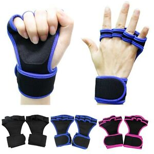 Cross Weight Lifting Fitness Gloves Gym Workout Training Wrist Wrap Strap Unisex