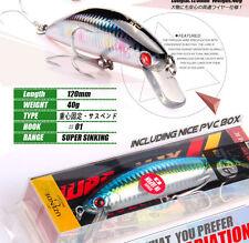 LOT OF 4 BEARKING FISHING LURES SINKING BAITS 40 Gr , 12 Cm